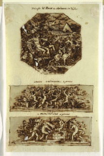 Drawing, Triumph of Bacchus and Ariadne, early 19th century