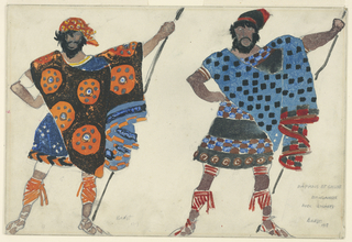 Drawing, Costume Design:  Two Pirates, for Daphnis et Chloe
