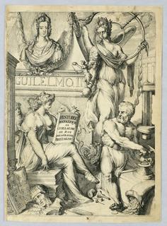"""Print, Frontispiece, """"Histoire Metalique de Guillaume III, Roy de la Grande Bretaigne"""", 1691"""