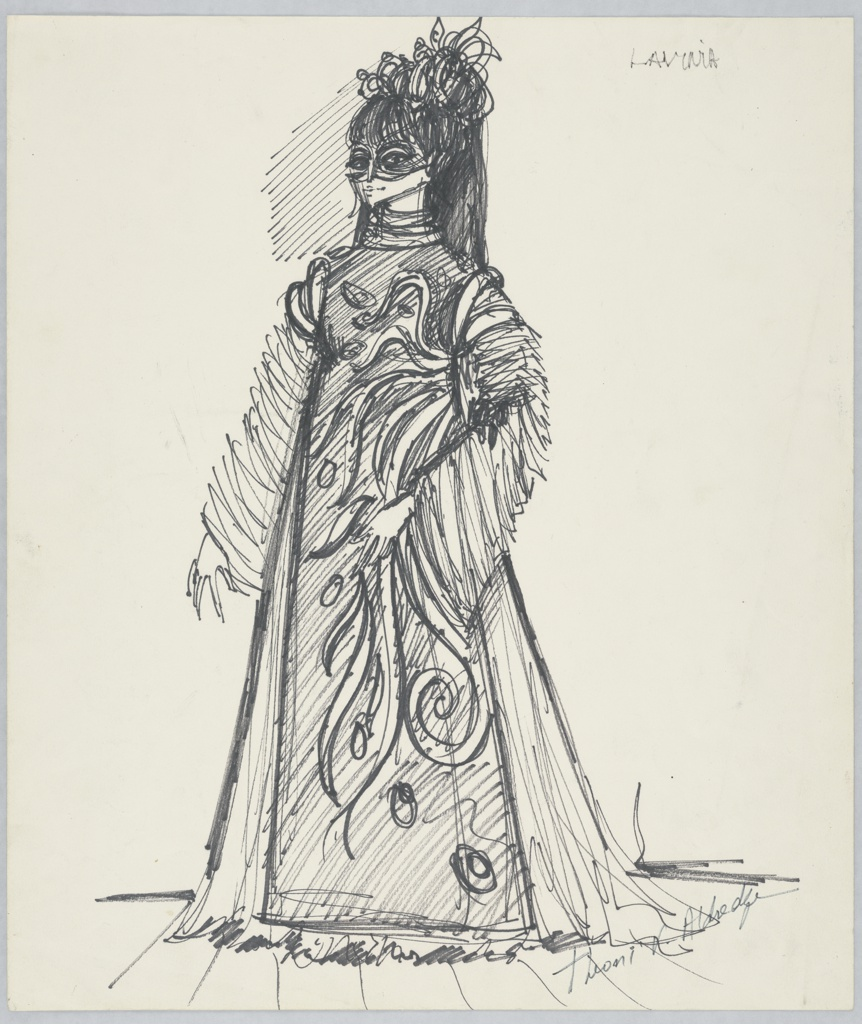 Drawing, Costume Design: Lavinia, for Titus Andronicus