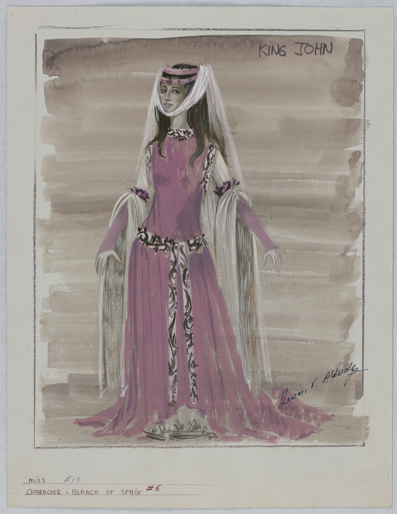 Drawing, Costume Design: Blanch of Spain, for King John