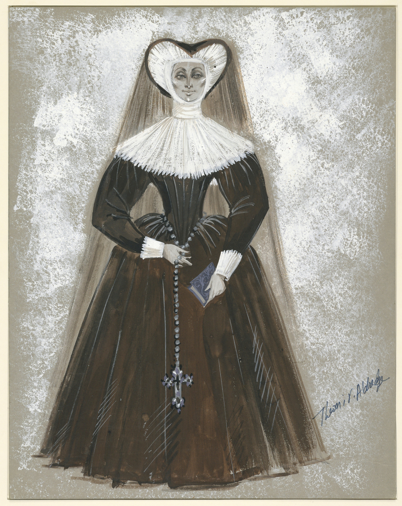 Drawing, Costume Design: Aemilia, An Abbess at Ephesus, for Comedy of Errors