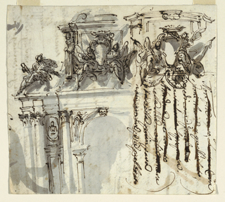 Drawing, Two Sketches for a Portal, 1750–75