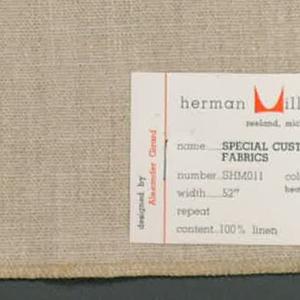 Plain weave in light brown linen.