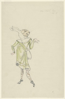 Drawing, Costume Design: March Hare, for Alice in Wonderland