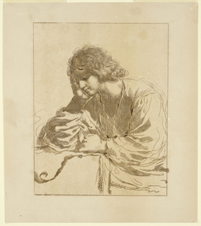Print, A Young Man in Meditation
