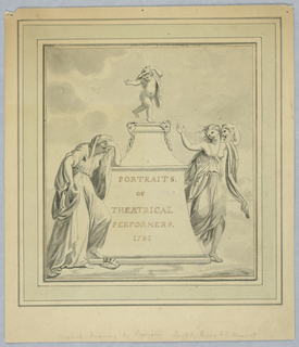 Drawing, Portraits of Theatrical Performers, ca. 1781