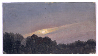 Drawing, Sunset, 1865–66