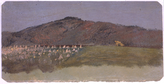 Drawing, Autumn Landscape, 1865