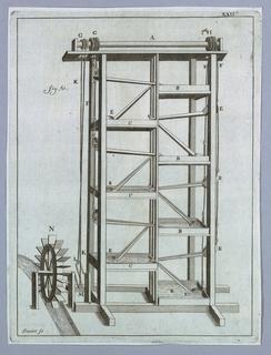 Plate 22, from Recueil d'ouvrages curieux de mathématique et de mécanique, ou description du cabinet de Monsieur Grollier de Servière.
