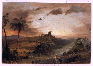 """Drawing, Study for """"Imaginary S. American Landscape"""", ca. 1857"""