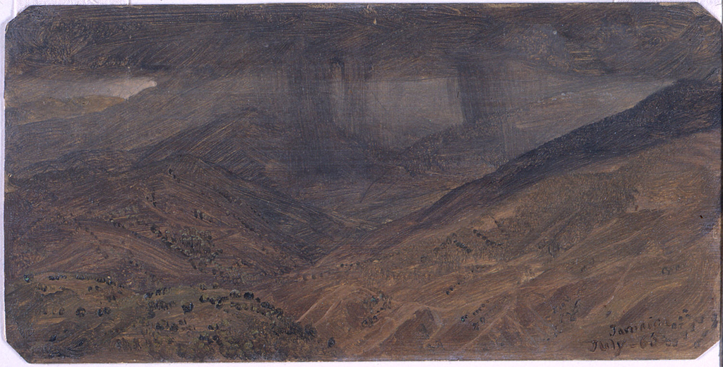Drawing, Mountains in rain, July 1865