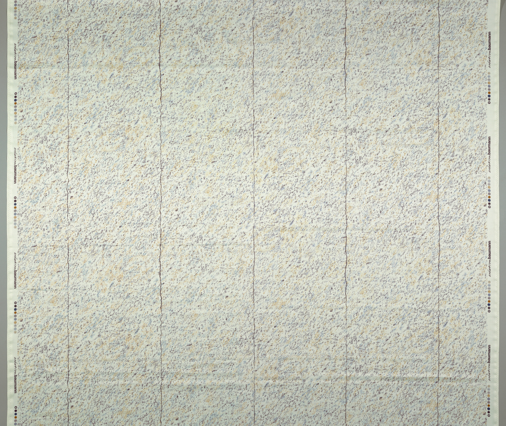 """Texture of irregular dots """"smudged"""" diagonally, fault lines as in marble divide the design vertically."""