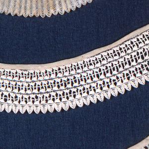 Four round white collars.