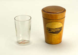 Shot Glass Container And Cover, 1880