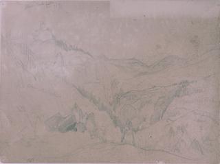 Drawing, Yellowstone, Above Tower Falls