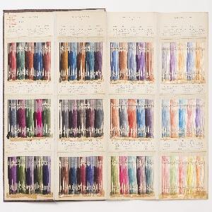 Sample Book, Carte de Nuances de la Chambre Syndicale des Teinturiers (Shade Card of the Dyer's Trade Union)