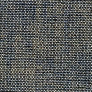 Plain weave with dark blue warp and gray weft. Heavy nylon yarns give a coarse surface texture.