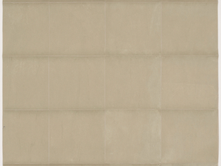 All-over pattern of cut and pasted paper squares with a slightly mottled finish, in olive-green color.