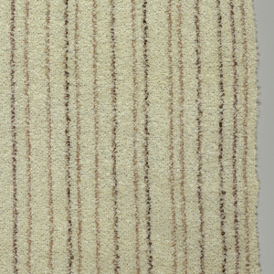 Horizontal stripes of varying widths in off-white with two shades of brown.