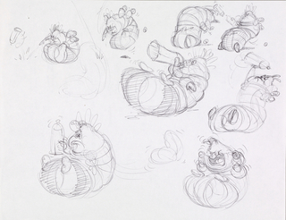Concept Art, Heimlich Animation Thumbnail, A Bug's Life, 1998