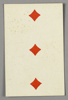 "Three of Diamonds from Set of ""Jeu Imperial–Second Empire–Napoleon III"" Playing Cards."