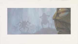 Concept Art, Hopper Arrives on Foggy Morning, A Bug's Life, 1998