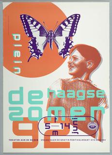 Poster, de Haagse zomer/Theater aan de haven 1992, 1992
