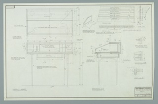 Drawing, Design for Desk, December 23, 1957