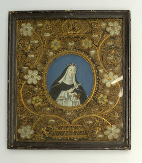 Portrait, Framed Devotional, late 18th–early 19th century