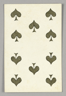 "Ten of Spades from Set of ""Jeu Imperial–Second Empire–Napoleon III"" Playing Cards."