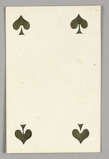 """Four of Spades from Set of """"Jeu Imperial–Second Empire–Napoleon III"""" Playing Cards."""