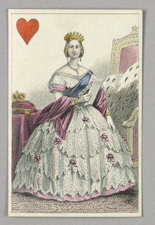 """Victoria, Queen of Hearts from Set of """"Jeu Imperial–Second Empire–Napoleon III"""" Playing Cards."""