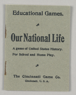 Playing Card, Our National Life: A Game of United States History