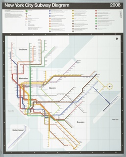 Map, New York City Subway Map, 2008