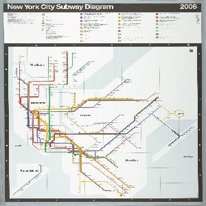 Map, New York City Subway Map, 2008