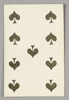 """Nine of Spades from Set of """"Jeu Imperial–Second Empire–Napoleon III"""" Playing Cards."""