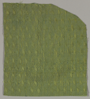 Ribbon fold pattern in green.
