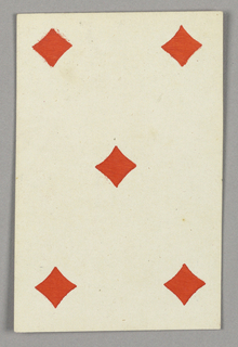 "Five of Diamonds from Set of ""Jeu Imperial–Second Empire–Napoleon III"" Playing Cards."