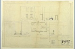Drawing, Floor Plan and Elevation