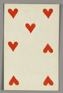 "Seven of Hearts from Set of ""Jeu Imperial–Second Empire–Napoleon III"" Playing Cards."