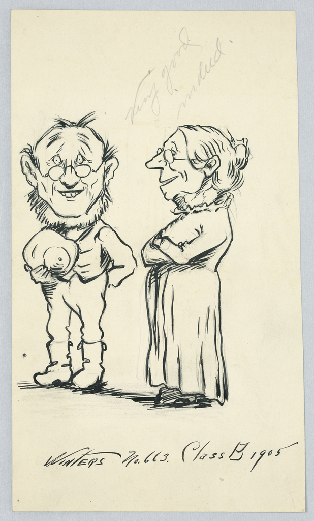 Drawing, Caricature, 1905