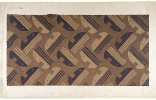 "Drawing, Carpet Design: ""Singing Women,"" Radio City Music Hall Main Auditorium, New York, NY"