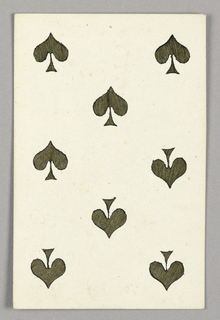 """Eight of Spades from Set of """"Jeu Imperial–Second Empire–Napoleon III"""" Playing Cards."""