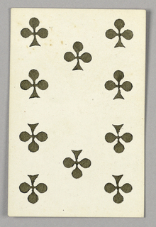 """Ten of Clubs from Set of """"Jeu Imperial–Second Empire–Napoleon III"""" Playing Cards."""