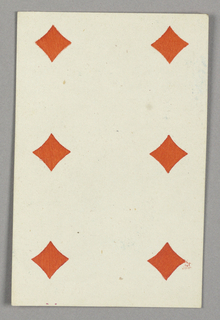 "Six of Diamonds from Set of ""Jeu Imperial–Second Empire–Napoleon III"" Playing Cards."