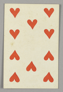 """Ten of Hearts from Set of """"Jeu Imperial–Second Empire–Napoleon III"""" Playing Cards."""