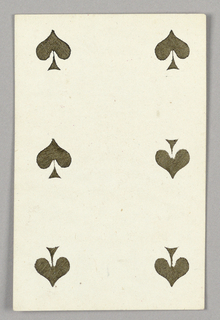 """Six of Spades from Set of """"Jeu Imperial–Second Empire–Napoleon III"""" Playing Cards."""
