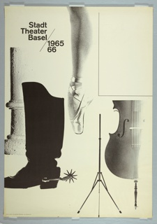 Poster, 1965/66 Stadttheater Basel [Poster for the 1965-66 Season of the City Theater, Basel]
