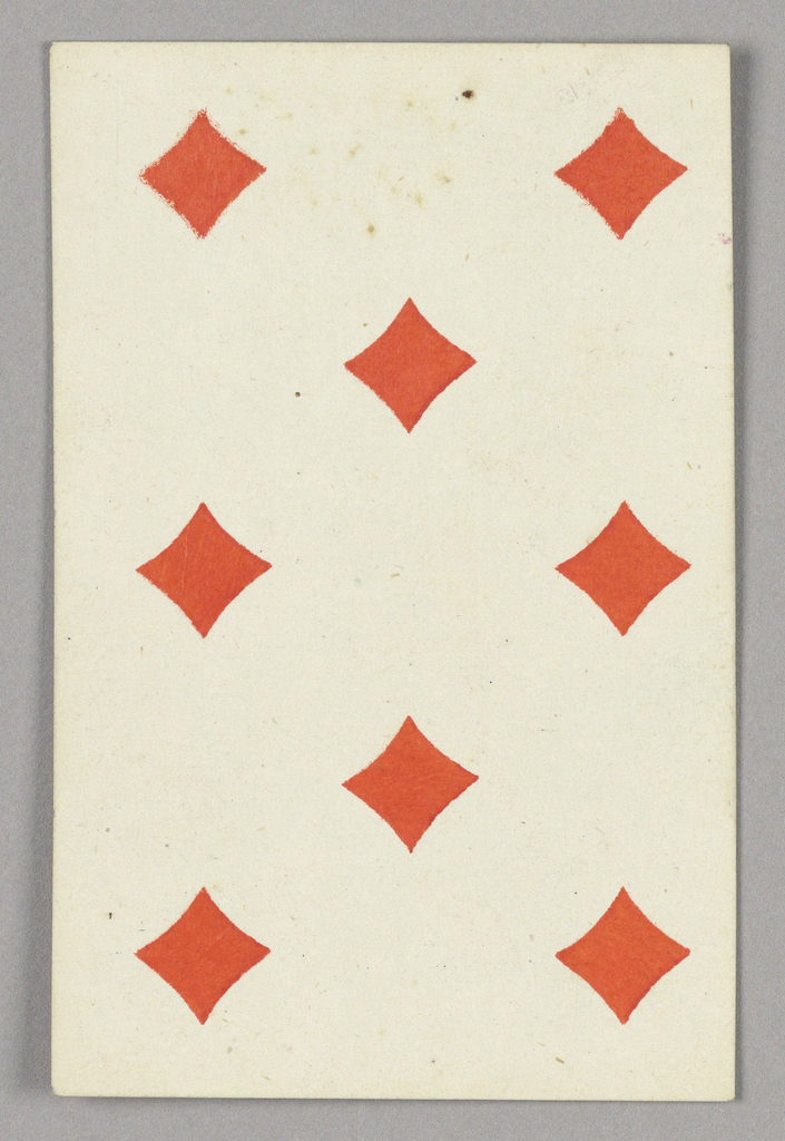 """Eight of Diamonds from Set of """"Jeu Imperial–Second Empire–Napoleon III"""" Playing Cards."""